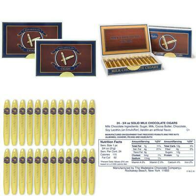 Madelaine Chocolates Gold Cigars Gift Box - Solid Milk Chocolate Cigars Wrapped