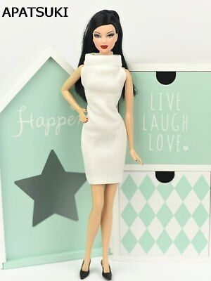 "Fashion White 1:6 Dress For 11.5"" Doll Evening Dresses Clothes For 1/6 Dolls Toy"