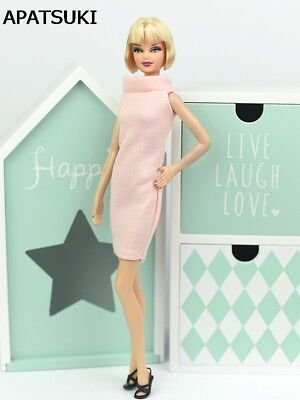 Pink Dress For 11.5inch Doll One Piece Evening Dresses For 1/6 Doll Accessories