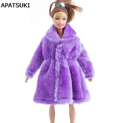 Purple Winter Wear Fur Coat For 1/6 Dolls Doll Clothing Doll Dress Clothes Toy