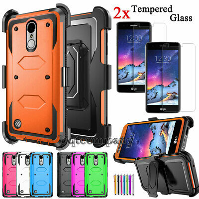 brand new ee75d 24171 FOR LG REBEL 2/Phoenix 3/Fortune Case With Kickstand Belt Clip+ ...