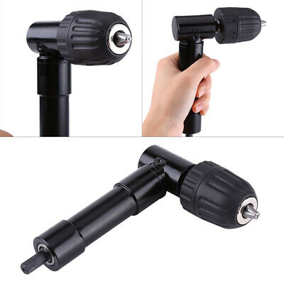 Right Angle Drill Attachment 8mm Shaft 90° Chuck Key Electric Drill Tool BS