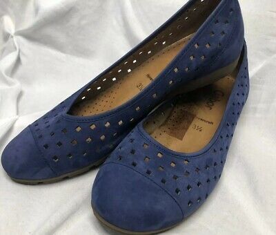 2a35683aeae50 GABOR HOVERCRAFT WOMENS Brilliant PERFORATED LEATHER lLOW SHOES SIZE 5.5  US/ 3UK