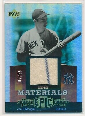 JOE DIMAGGIO 2006 Upper Deck Epic Materials Red JERSEY PINSTRIPE /55 YANKEES HOF