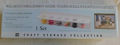 Wall Mount Embellishment Holder Craft Storage Collection