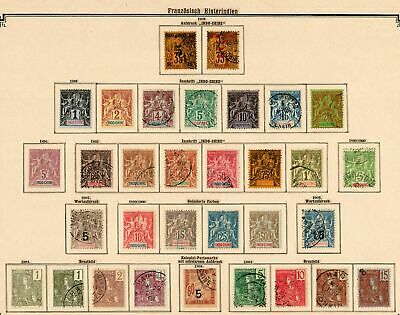 French Indochine 1889-1907 from Annam to Tongkoing, Cochinchina,  big collection