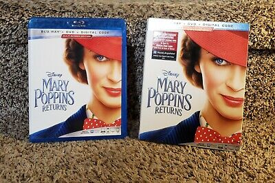 Disney's MARY POPPINS RETURNS Blu-Ray/ DvD 2 Disc Combo Pack w/ Slipsleeve 2019