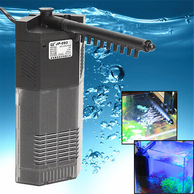 Submersible Aquarium Internal Water Pump and Filter Fish Tank With Spray Bar