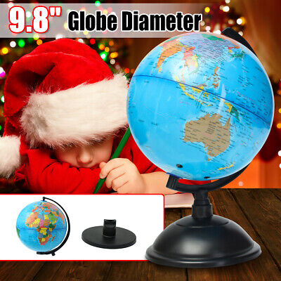 25CM Rotating Science Earth Globe World Countries & Base Geography Students Kid