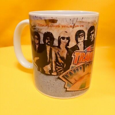 The Traveling Wilburys Volume1 Debut Album 1988 - Album Cover On A Mug.