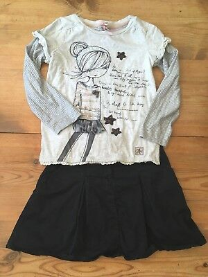 Next Age 5 Years Girls Skirt And T Shirt Outfit