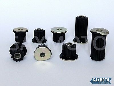 YAMAHA RD400 76-79 Gummidämpfer Motorgehäuse Set  (Engine Mounting Damper set)