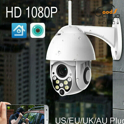 1080P PTZ Mini WIFI Outdoor Dome IP Camera Wireless HD CCTV Waterproof Audio