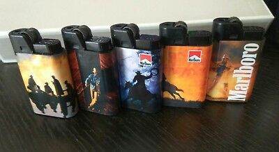 Marlboro Cigarette 5 Lighters DJEEP # New Old Stock Made in France !!!!!