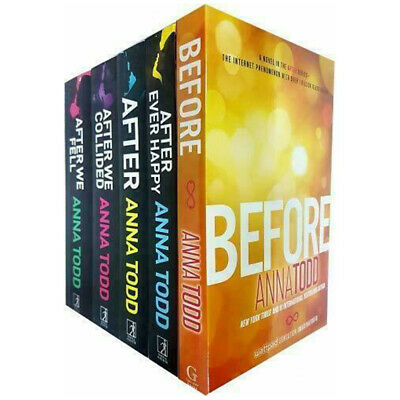 Anna Todd Before And After Series 5 Books Collection Set Nothing More, Before