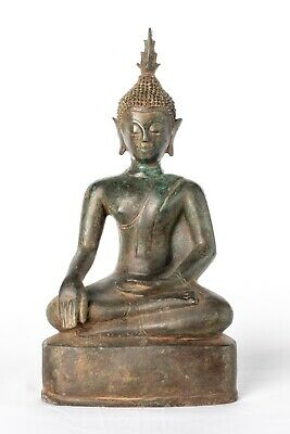 19th Century Antique Laos Enlightenment Buddha Statue - 30cm/12""