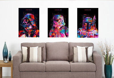 Star Wars Movie Art Fabric Print Darth Vader Stormtrooper Master Poster#B163