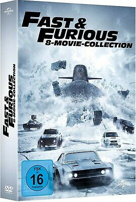 FAST & FURIOUS 1-8 MOVIE COLLECTION (Vin Diesel) 8 DVDs NEU+OVP