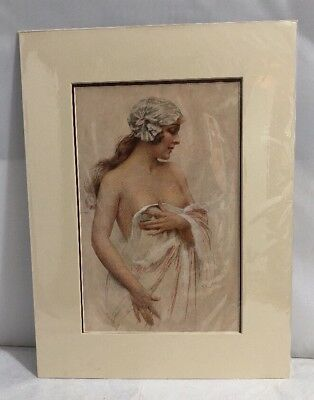 Vintage 1920s Print From French L'illustration Semi Nude Lady Ready for Framing