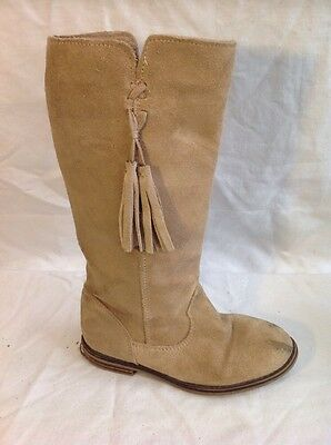Girls Next Brown Suede Boots Size 12