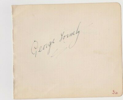 George Formby – autograph album leaf + Stuart Hibberd announced death George V !