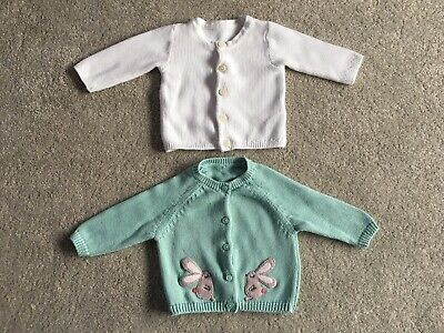 Two Lovely Baby Girl Cardigans from M&S (Size 0-3 Months)