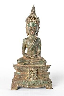 Antique 19th Century Southeast Asia Laos Meditation Buddha Statue - 31cm/12""