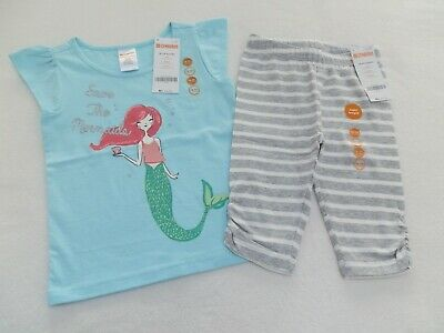 NWT Gymboree So Tropical Blossom Striped Tunic Bloomers Baby Girls Outfit Set