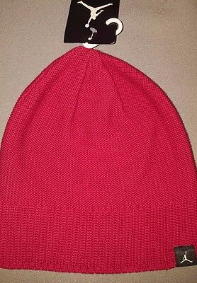 51258c0b741 Nike Jordan Jumpman Mens Knit Beanie Hat Red 801769 687 New With Tag Adult