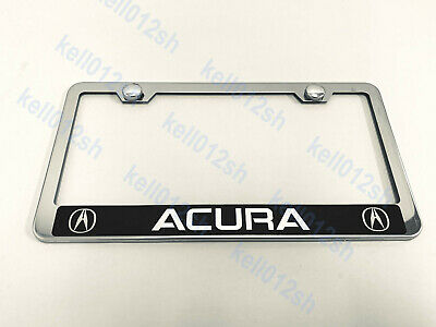 Blank Stainless Steel Heavy Metal Mirror Chrome License Plate-For CHEVY GMC BMW