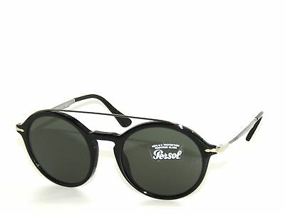 ddfbc653971a Persol 3172S Black/Green Crystal 95/31 Sunglasses 3172 Calligrapher Edition
