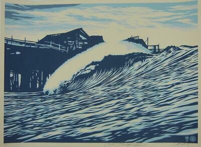 Frank Shepard Fairey (Obey), Wave Blue, Screenprint signed and numbered sold out