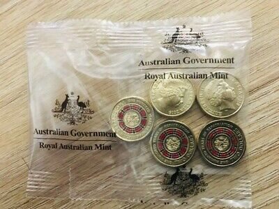 Mint Bag 5 x Coins 2019 $2 Bring Them Home- A Hundred Years of Repatriation