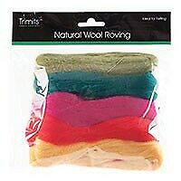 Natural Wool Roving, Standard Bright, 10g Packet