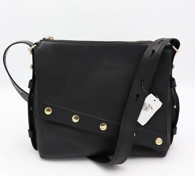 36162bfe992c NWT Marc Jacobs Downtown Studded Black Leather Shoulder Crossbody Bag New   695