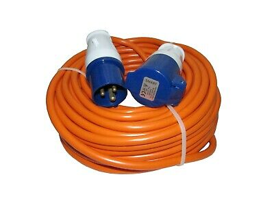 25m CARAVAN MAINS HOOK UP CABLE EXTENSION LEAD 1.5mm motorhome camping boat