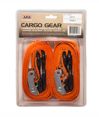 25mm x 3.0M CAMBUCKLE TWINPACK - ARB - CT02-3