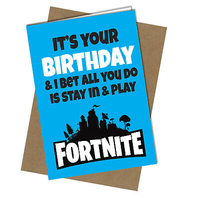 #1001 FATHERS DAY CARD Playing Fortnite Game ADULT HUMOUR Funny Rude