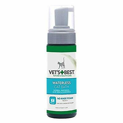 Vet's Best Champú seco Natural para Gatos, 150 ML