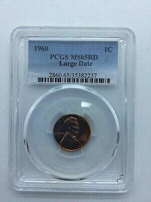 1960 1c PCGS MS65 RD (Large Date) Lincoln Cent