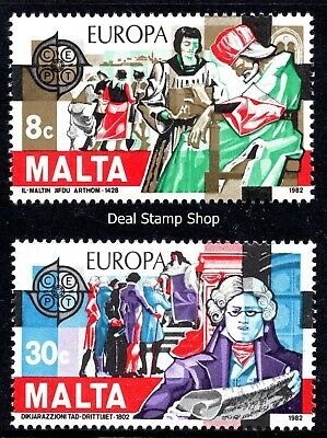 Malta 1982 Europa Historical Events Complete Set SG 692 - 693 Unmounted Mint