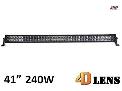 "41"" 240w 4D Lens Cree Led Light Bar Combo Driving Light Alloy Off Road 4wd 4x4"