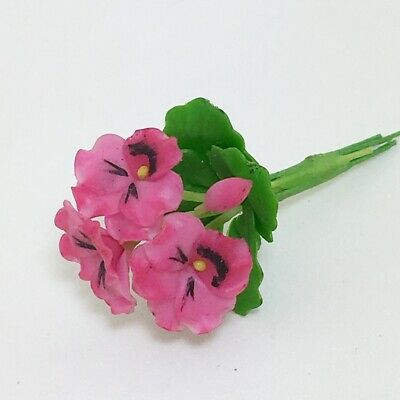 1:12 Dollhouse Miniatures Clay Plant Flower Red Climbing Rose Wattle  L8 1//4/""