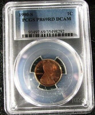 1990-S 1C Proof Lincoln Memorial Cent PCGS PR69DCAM