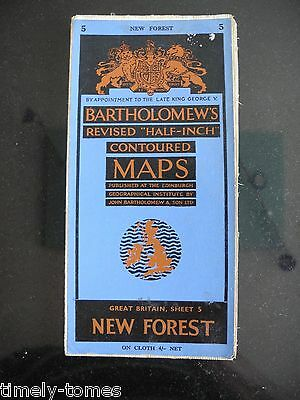 New Forest - Sheet 5 - Bartholomew's Revised Half Inch Contoured Map