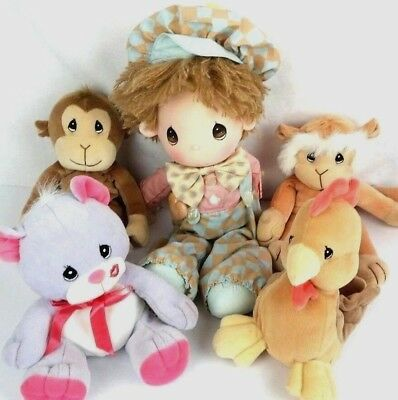 Lot of Precious Moments Toys Plush Tender Tails Vintage 1986 Doll Stuffed Animal
