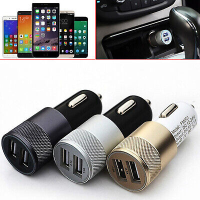 Car Charger 3.1A Dual LED USB Alloy Universal For SAMSUNG iPhone HTC LG Huawei