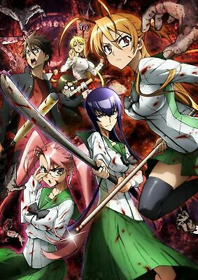HIGH SCHOOL OF THE DEAD: Anime DVD Complete Collection Ep. 1-12 English ship USA