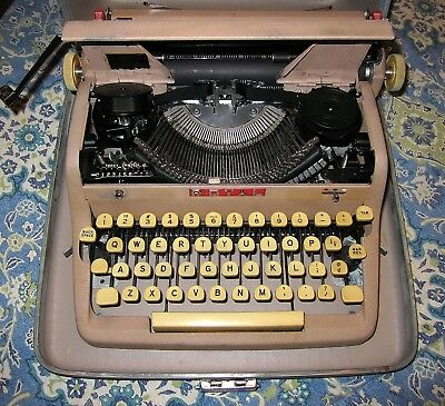 Professionally Restored Rare 1956 Royal Portable Quiet Deluxe Typewriter