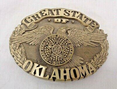 """Vintage Solid Brass ADM """"The Great State of Oklahoma"""" First Edition No. 140"""